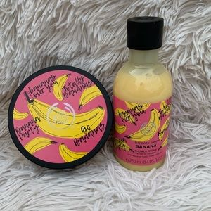 THE BODY SHOP BANANA BODY BUTTER & SHOWER CREAM